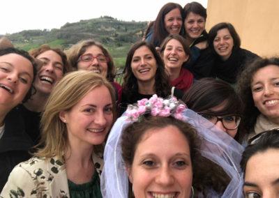Addio al nubilato a Montepulciano con l'e-bike