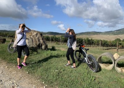yoga in vineyard urban bikery