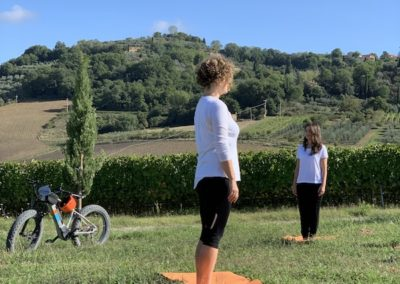 yoga in vineyard urban bikery marzia